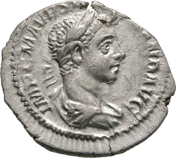 Denário ESCASSO de Severus Alexander, 222-235 dC