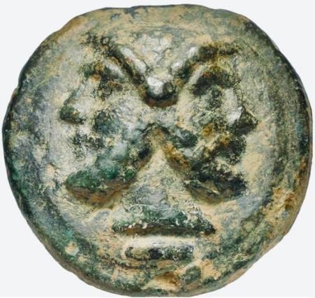 Moeda Romana Aes Grave ca. 225-217 aC