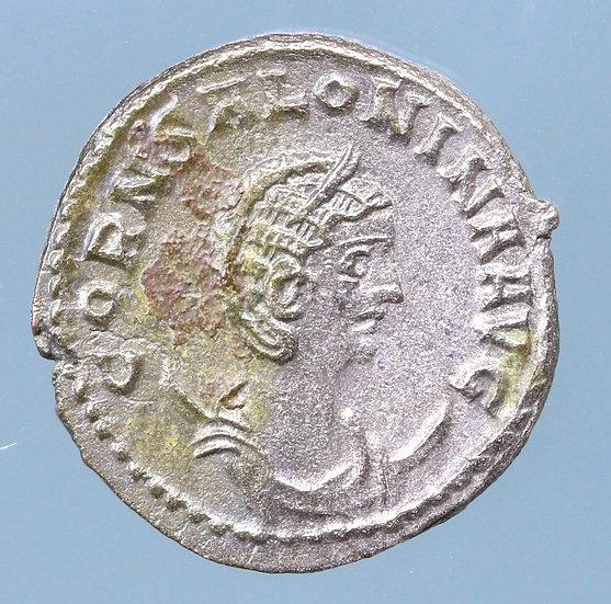 Moeda Romana Antoniniano de Salonina 254-268 dC