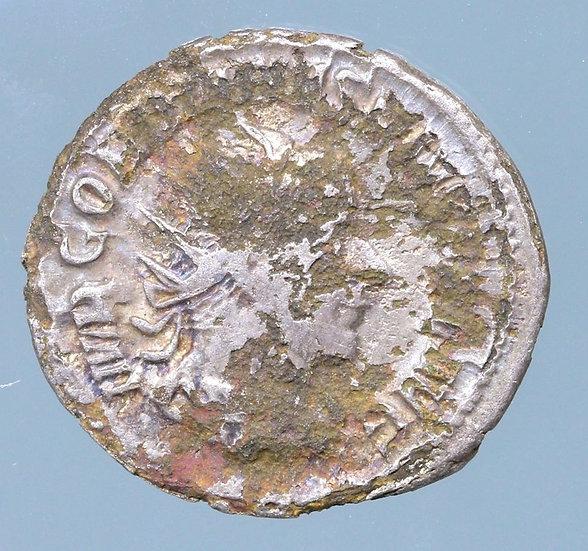 Moeda Romana denário fourrée de Gordian III (238-244).