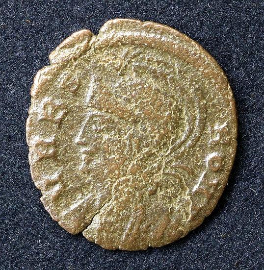 Moeda Romana Urbs roma 330 dC