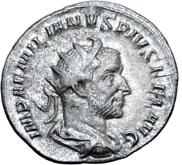 Moeda RARA Antoniniano de Aemilian, Roma, 253 dC.