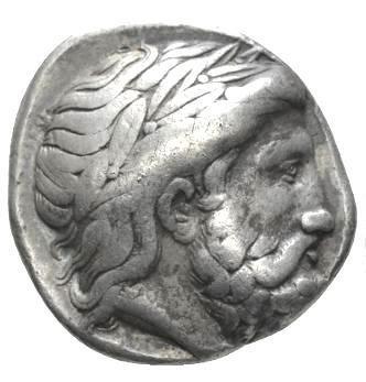Moeda Grega Tetradracma de Filipe II (359-336 dC) - pai de Alexandre O Grande