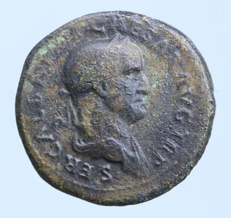 Moeda Romana Galba. 68-69 AD. Dupondius, 13.2g. 27mm.