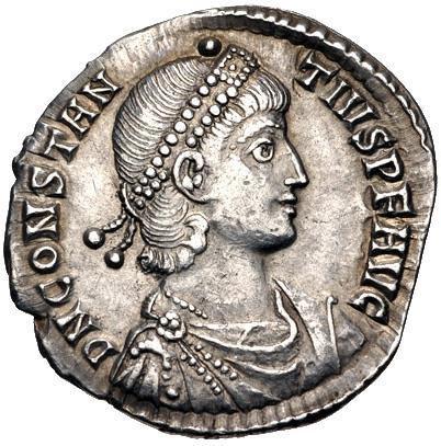 Moeda romana Constantius II.AD 337-361. AR Siliqua (19.5mm, 2.84 g, 12h).