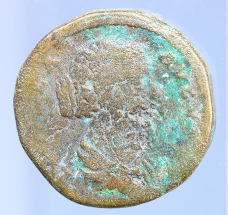 Moeda romana de FAUSTINA Jr., wife of Marcus Aurelius. Augusta, 147-175 AD.