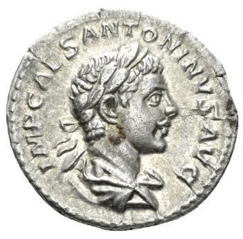Moeda Romana Escassa de Elagabalus (218-222 dC)