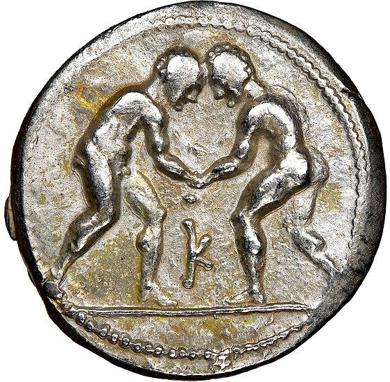 Moeda Grega (Olímpica) Escassa Stater da Pisidia, Selge (Ca. 325-250 aC).
