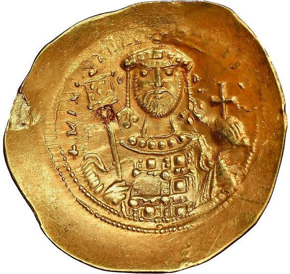 Moeda Bizantina Hismenon (ouro/electrum) de Michael VII Ducas (1071-1078 DC).