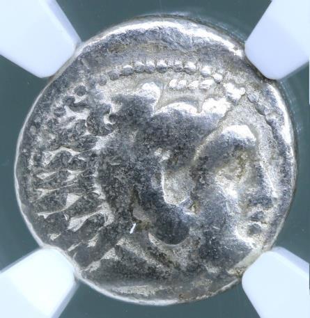 MACEDONIAN KINGDOM. Alexander III, the Great. 336–323 BC Silver drachm NGC