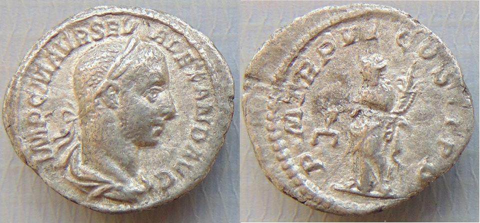 Denário de prata de Alexandre Severo