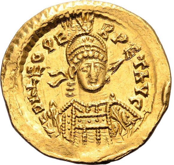 Moeda Romana Leo AV Solidus. 462-466 dC