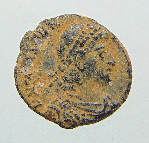Moeda Romana AE3 de Constantius II 353-354 Dc