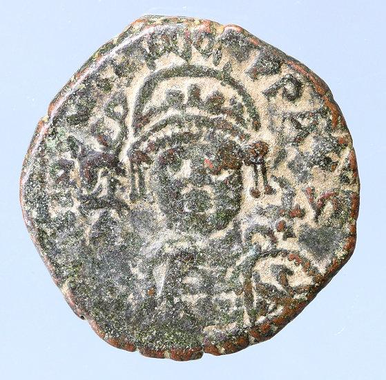 Moeda Bizantina de Justiniano I, (527-565 dC)