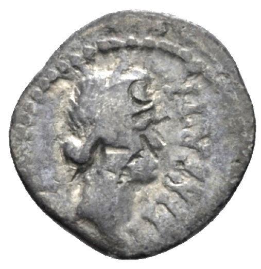 Moeda Romana de Brutus cunhada após assassinar Júlio César, em fuga com Cassius