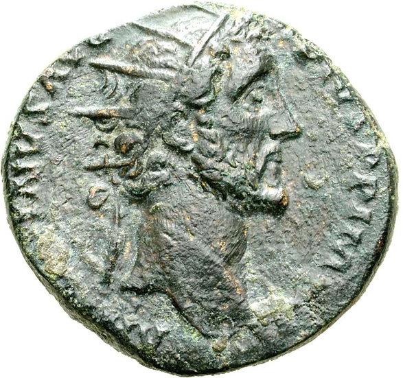 Moeda Romana Dupôndio de Antoninus Pius (138-161 dC).