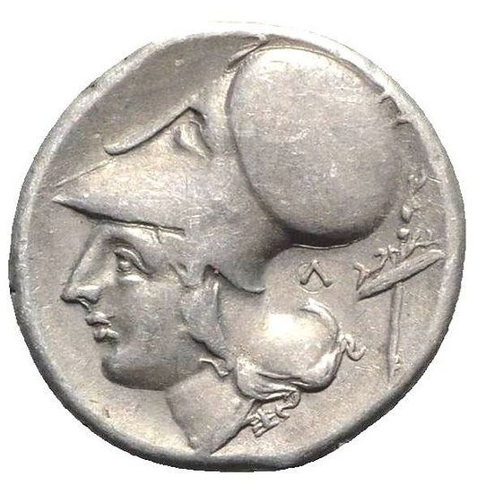 Moeda Grega Stater da Akarnania, Leukas (c. 320-280 aC).