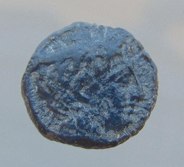 Moeda Grega rara de Tragilos Macedônia com Hermes 380aC
