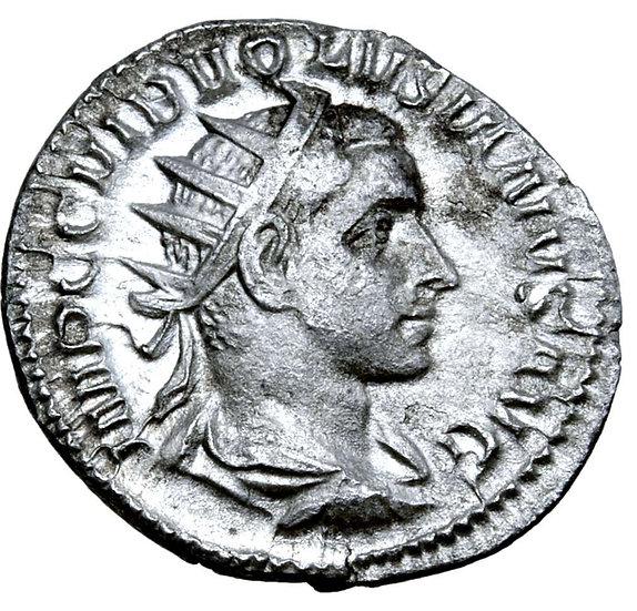 Moeda Romana Antoniniano de Volusian (251-253 dC)