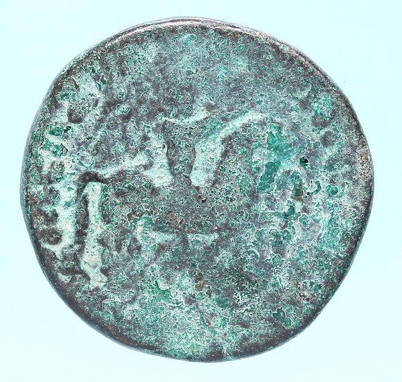 Moeda da Bactria Azes II., 35 aC
