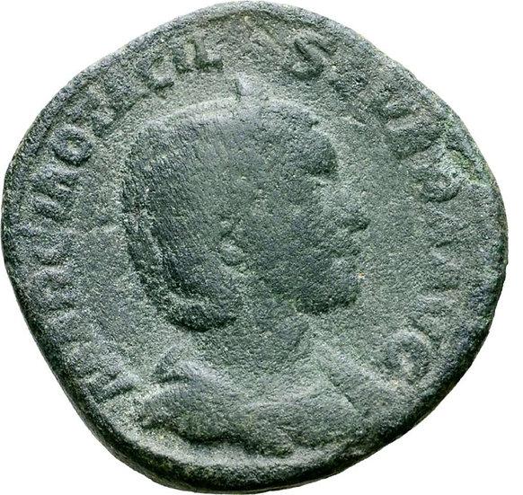 Moeda Romana Escassa Sestércio de Otacilia Severa (esposa de Filipe I)