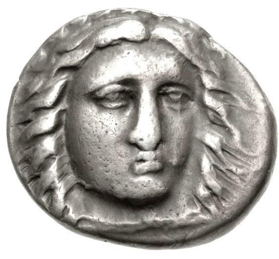 Moeda Grega Rara Didracma de Pixodaros (341-336 aC).