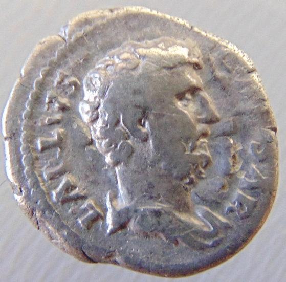 Moeda Romana Rara Denário De Prata De Aelius - Refc1654