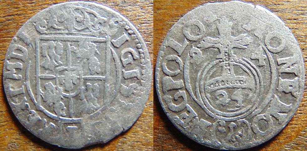 Moeda Antiga Prata Sigismund Polônia sec. XVII Polônia Zygmunt III. Waza, 1587-