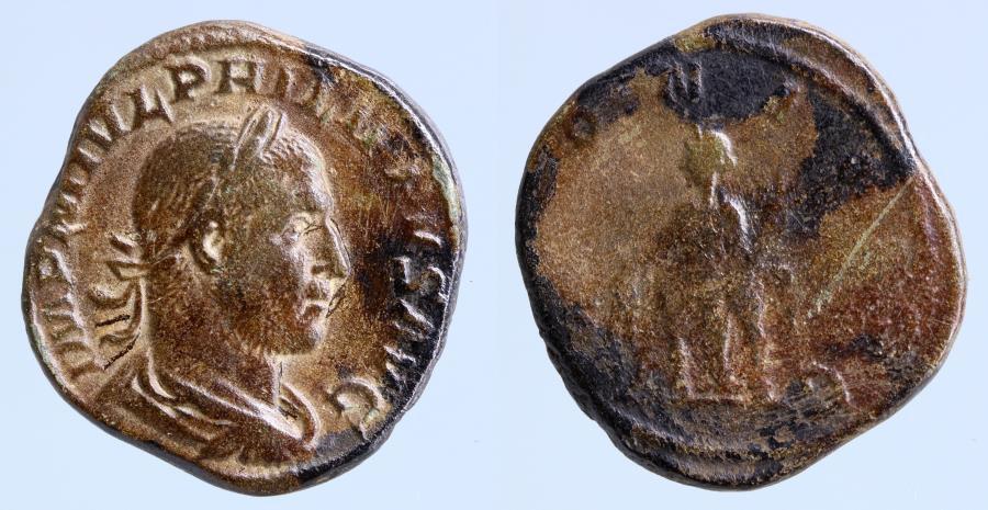 Moeda Romana: Philip I, 244-249 AD, Sestertius