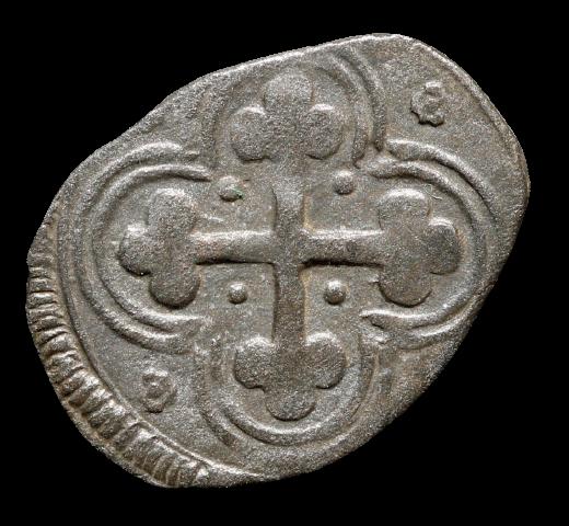 Moeda Italiana escassa Quarto di soldo de Carlo Emanuele I (1580-1630)