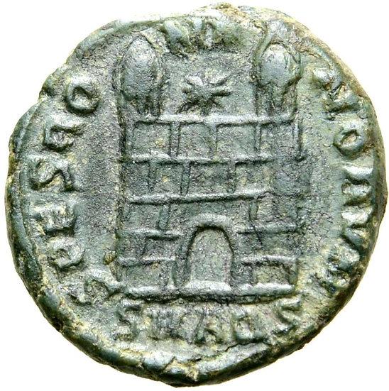 Moeda RARA de Flavius Victor. Aquileia, 387-388 dC.