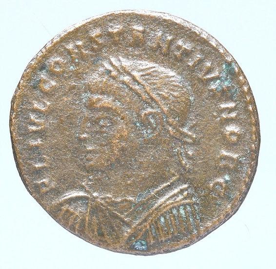 Moeda de Constantius II (337-361) (escassa).