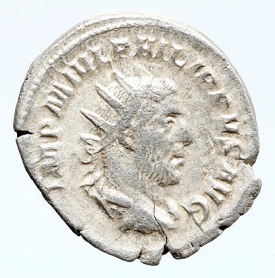 Moeda Romana de Felipe O Árabe (244-249 dC).