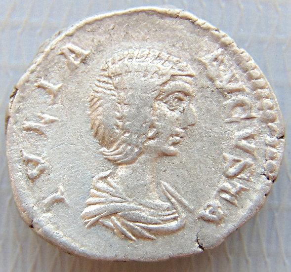 Moeda Romana Denário de Julia Domna 196-211dC Hilaritas