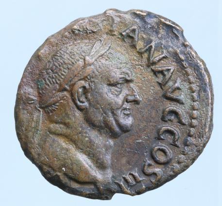 Moeda Romana Vespasian. AD 69-79. Æ As (24mm, 9,86 g). Rome mint.