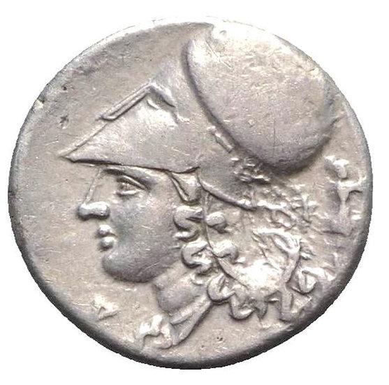 Moeda Grega Escassa Stater de Corintho (c. 375-300 aC).