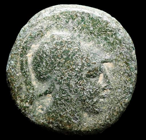 Moeda Grega de Pontos. Amisos. Ae (Cerca 111-105 aC).