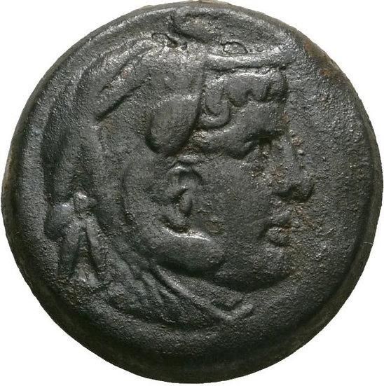 Rara Moeda Egípcia De Ptolomeu Ii Philadelphos (285-246 Ac).