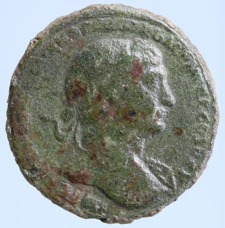 Moeda romana Traianus AE Sestertius, Providentia 98-117 dc