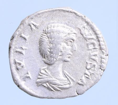 Moeda romana de Julia Domna AR Denarius. Rome, AD 196-211