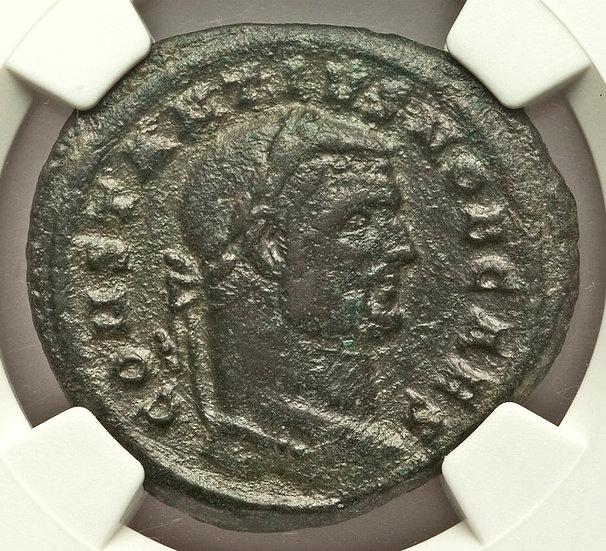 Moeda Romana de Constantius I como César (293-305 dC).