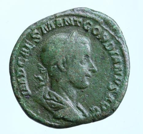 Moeda Romana GORDIAN III (238-244). Sestertius. Rome.