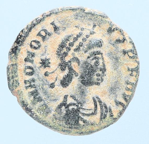 Moeda Romana de Honorius 383-408 dC.