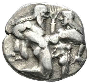 Moeda Grega Escassa Stater de Thásos Stater (525-463 aC)