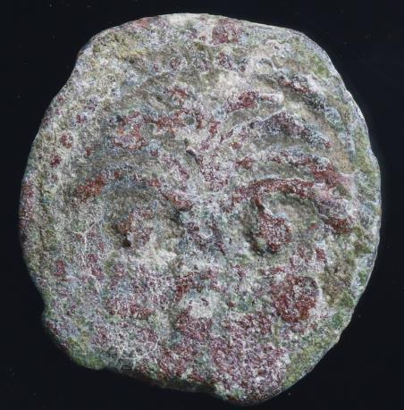 Moeda Judia Bíblica Judaea Marcus Ambibulus. 9-12 C.E. Æ prutah. Prefect under A