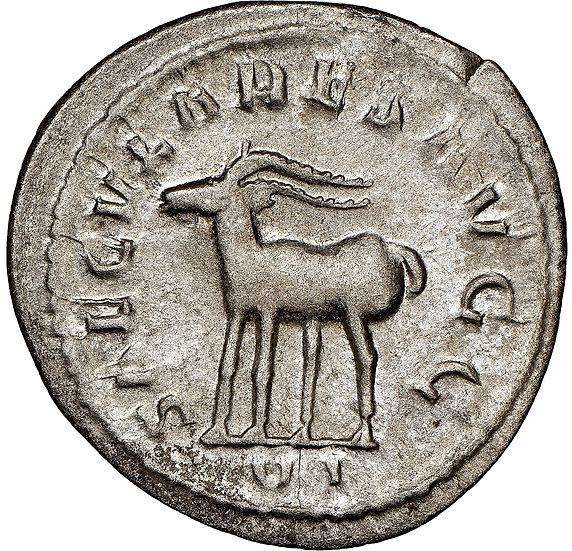 Moeda Romana Comemorativa 1000 anos de Roma Filipe I. 244-249 dC NGC
