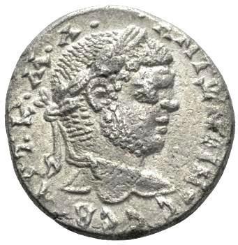 Moeda Provincial Escassa Tetradracma de Caracalla (198-217)