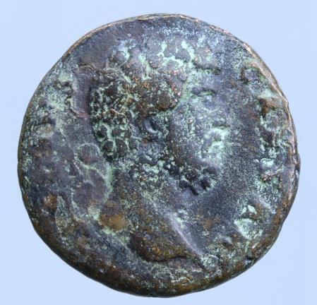 Moeda Romana Aelius as Caesar (136-138 AD).