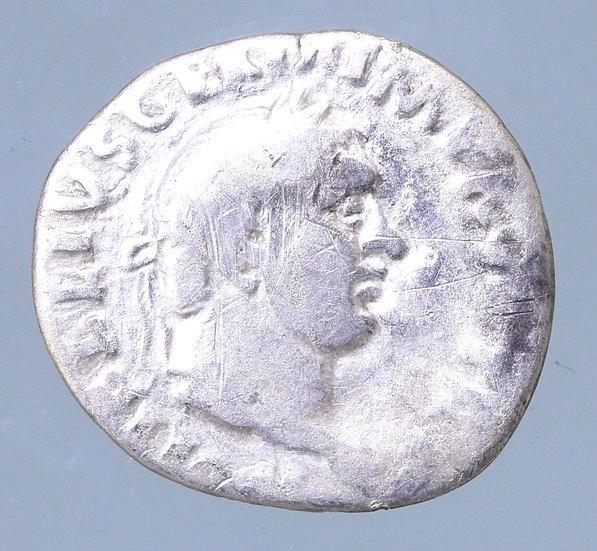 Moeda romana rara denário de Vitélio - 69 dC. Roma.