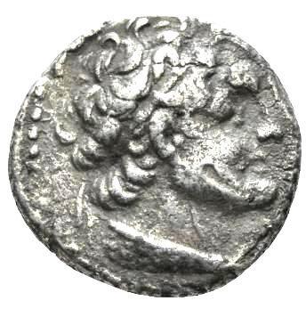 Moeda Grega didracma de Ptolomeu VI Filometor (163-145 aC)